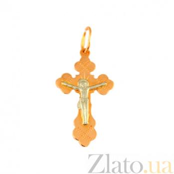 Золотой крестик Сила небесная 000032381