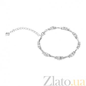 Серебряный браслет с фианитами Селена 000027965