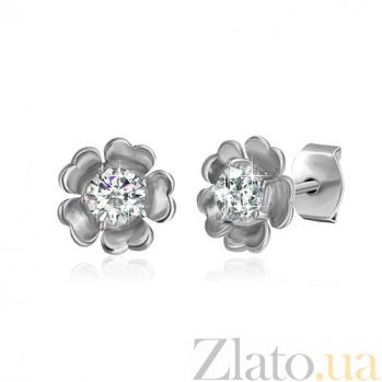 Сережки из серебра с цирконием Иберис SLX--СК2Ф/417