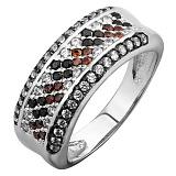 Серебряное кольцо с фианитами Россыпь