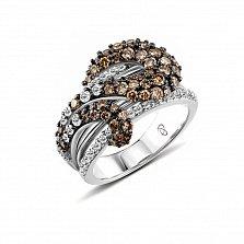 Кольцо из белого золота Элоиза с бриллиантами