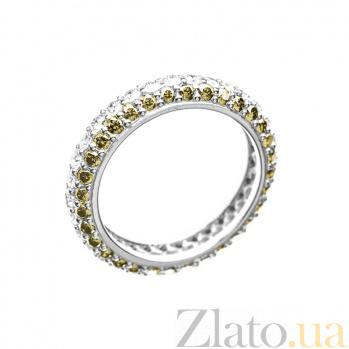 Кольцо в белом золоте Ливадия с бриллиантами 000079282