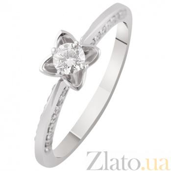 Золотое кольцо с бриллиантом Сильвия KBL--К1952/бел/брил