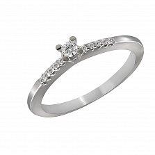 Кольцо из белого золота Шейла с бриллиантами