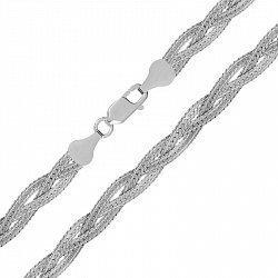 Серебряная цепь с родированием 000026297