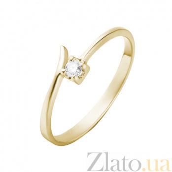Кольцо в желтом золоте Фернанда с бриллиантом 000079255