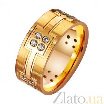Золотое обручальное кольцо с фианитами Моя княгиня TRF--412517