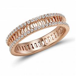 Обручальное кольцо Дора из красного золота с бриллиантами