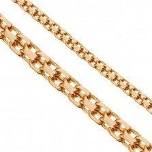 Золотая цепь Ланкастер в плетении двойной якорь, 2мм