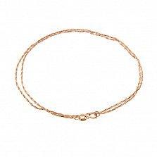 Золотая цепочка Шантар в плетении ручеёк, 1мм