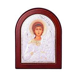 Икона Ангел Хранитель с серебрением и позолотой на деревянной основе 000131703