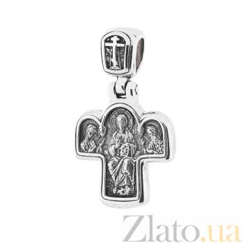 Серебряный крест с чернением Исповедь ONX--13442