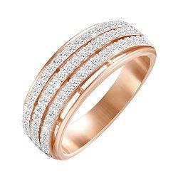 Серебряное кольцо с позолотой и фианитами 000052264