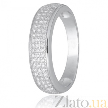 Кольцо из серебра с фианитами Остайн 000028270
