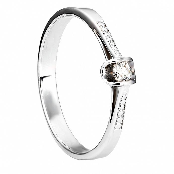 Кольцо из белого золота с бриллиантом Мальва 000030105