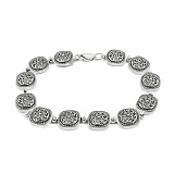 Серебряная декоративная цепь Флорентина с чернением