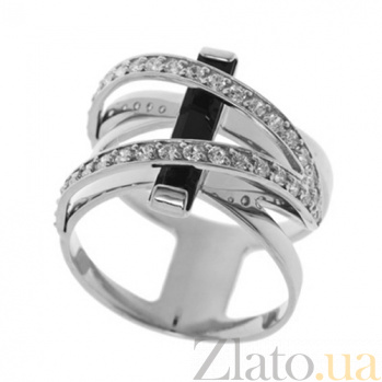 Серебряное кольцо с агатом Формула страсти TNG--379602С