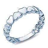 Серебряное кольцо Сердечки