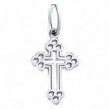 Декоративный серебряный крестик Умиление