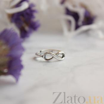 Серебряное фаланговое кольцо Знак бесконечности с возможностью регулировки размера 000070687