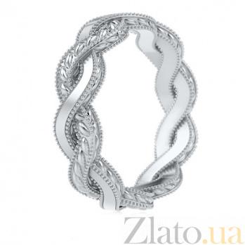 Обручальное кольцо из белого золота Золотое сечение 563