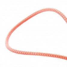 Шелковый коралловый шнурок Внутренний свет с серебряной застежкой