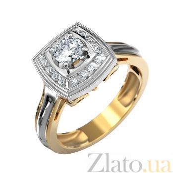 Золотое кольцо с бриллиантами Французский шик VLA--14430