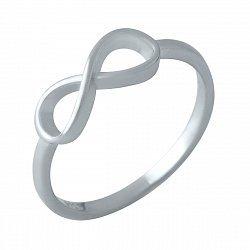 Серебряное кольцо с символом бесконечности 000119468