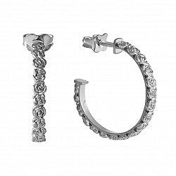 Серебряные серьги Розочки 000046034