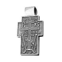 ДубльСеребряный крестик с чернением 000082099
