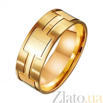 Золотое обручальное кольцо Доверие в красном цвете TRF--431516