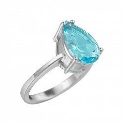 Серебряное кольцо Фанни с топазом