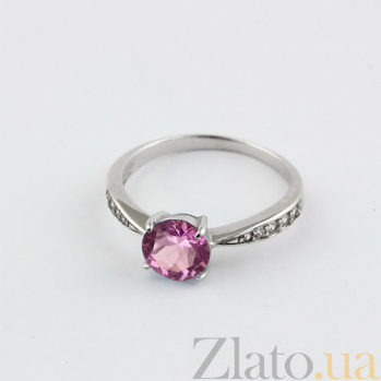 Золотое кольцо с аметистом и фианитами Беатриса VLN--112-778-4*