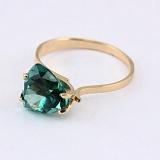 Золотое кольцо Сандра с синтезированным аметистом