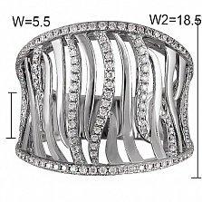 Кольцо из белого золота Миани с бриллиантами