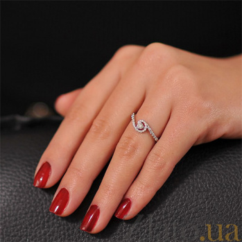 Кольцо из белого золота с бриллиантами Оазис EDM--КД7488/1