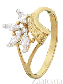 Серебряное кольцо с фианитами Ашандра 000025596