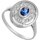 Золотое кольцо в белом цвете с цирконием Мелодия Орфея