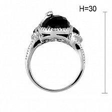 Кольцо из белого золота Джорджина с агатами и бриллиантами