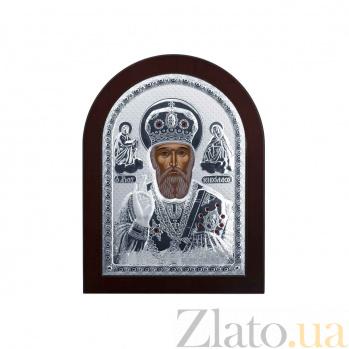 Икона Николая Чудотворца из серебра в дереве AQA--MA/E1108A