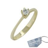 Кольцо из желтого золота с кристаллами Swarovski Верена