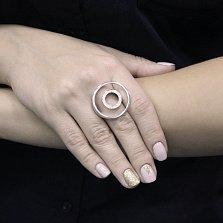 Серебряное кольцо Звенящие круги с белыми фианитами
