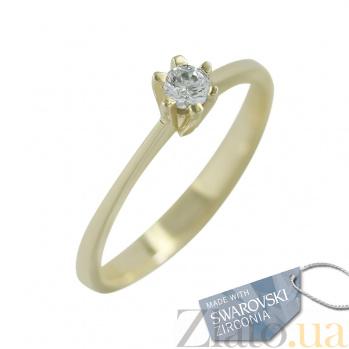 Кольцо из желтого золота с кристаллами Swarovski Верена 2К171-0061