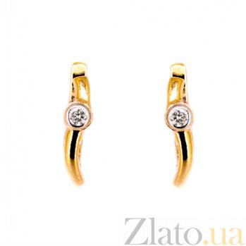 Золотые серьги с бриллиантами Ханна ZMX--ED-6642_K