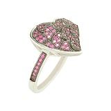 Серебряное кольцо с цирконием Ажур
