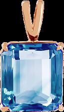 Золотой подвес Присцилла с голубым топазом