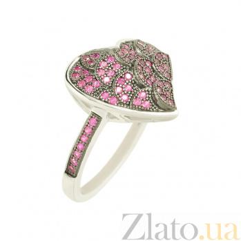 Серебряное кольцо с цирконием Ажур 3К543-0134