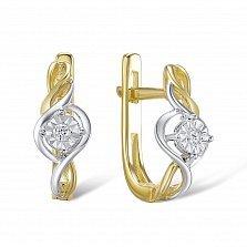 Серьги из золота с бриллиантами Молли