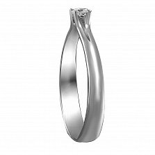 Кольцо из белого золота Леди с бриллиантом