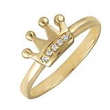 Кольцо в желтом золоте Little Princess с фианитами